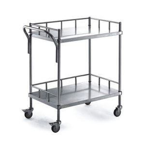 Stainless steel 2 Layers Apparatus Cart